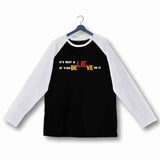 Wordplay TV Series Funny Seinfeld Believe Custom Printed Graphic Design Raglan T-Shirt for Women - Aaramkhor