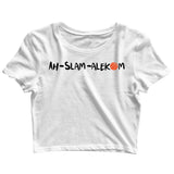 Sports Basketball AHSLAM ALLEHKUM Custom Printed Graphic Design Crop Top T-Shirt for Women - Aaramkhor