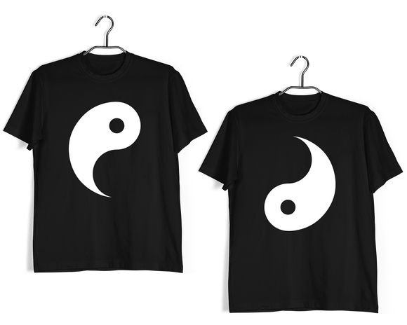 Matching Anniversary Gifts Relationships Matching Couples YIN YANG T-Shirts for Boyfriend Girlfriend Fiance Husband Wife Mother Father Family - Aaramkhor