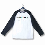 Wordplay TV Series Funny Friends Get Bitter With practice Custom Printed Graphic Design Raglan T-Shirt for Women - Aaramkhor