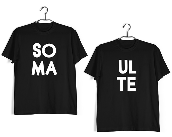 SoulMate Anniversary Gifts Relationships Matching Couples SOULMATE T-Shirts for Boyfriend Girlfriend Fiance Husband Wife Mother Father Family - Aaramkhor