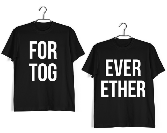 Matching Anniversary Gifts Relationships Matching Couples Forever Together T-Shirts for Boyfriend Girlfriend Fiance Husband Wife Mother Father Family - Aaramkhor
