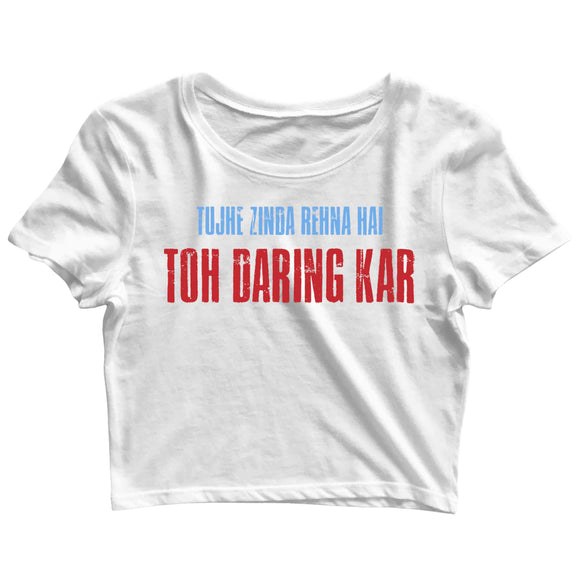 TV Series Sacred Games Daring Kar Custom Printed Graphic Design Crop Top T-Shirt for Women - Aaramkhor