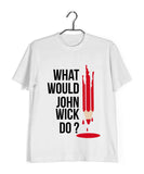John Wick MOVIES Hollywood JOHN WICK PENCIL Custom Printed Graphic Design T-Shirt for Men - Aaramkhor