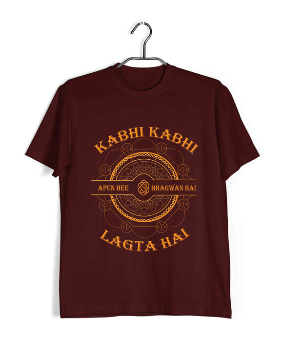 TV Series Sacred Games Kabhi Kabi Lagta Hai Apun hi Bhagwan Hai Custom Printed Graphic Design T-Shirt for Men - Aaramkhor