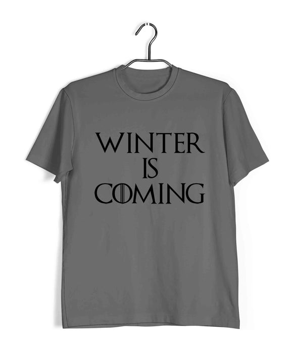 TV Series Games of Thrones (GOT) Winter is Coming Custom Printed Graphic Design T-Shirt for Men - Aaramkhor