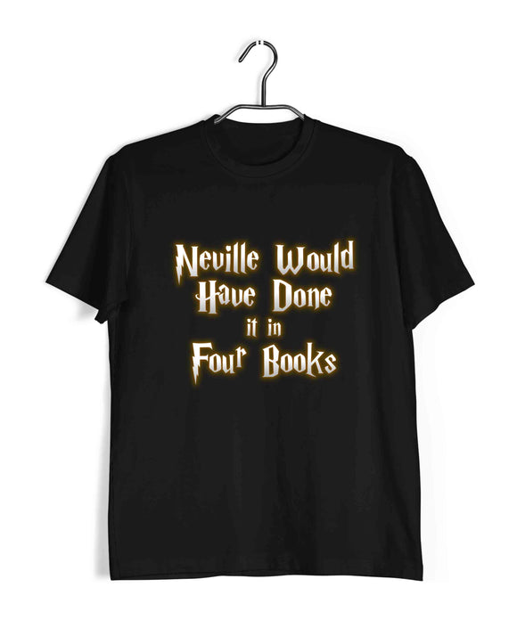 Books Harry Potter Neville needs 4 Books Harry Potter Custom Printed Graphic Design T-Shirt for Men - Aaramkhor