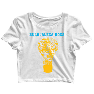 TV Series Pitchers Bulb Jalega Boss Custom Printed Graphic Design Crop Top T-Shirt for Women - Aaramkhor