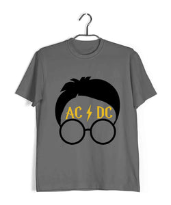 Books Harry Potter Potter Scar AC DC Custom Printed Graphic Design T-Shirt for Men - Aaramkhor