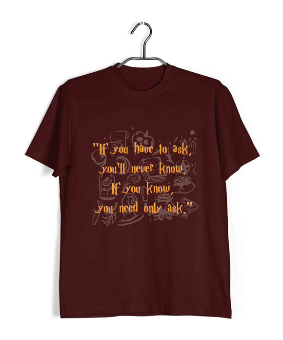 Books Harry Potter Grey Lady Diadem - If you need to know Custom Printed Graphic Design T-Shirt for Men - Aaramkhor