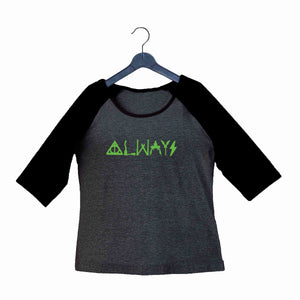 Books Harry Potter SEVERUS SNAPE ALWAYS Custom Printed Graphic Design Raglan T-Shirt for Women - Aaramkhor