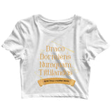 Books Harry Potter HOGWARTS - DRACO DORMIENS Custom Printed Graphic Design Crop Top T-Shirt for Women - Aaramkhor