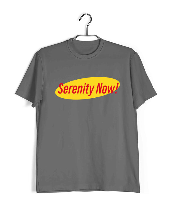 TV Series Seinfeld Serenity Now Custom Printed Graphic Design T-Shirt for Men - Aaramkhor