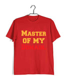 TV Series Seinfeld MASTER OF MY DOMAIN Custom Printed Graphic Design T-Shirt for Men - Aaramkhor