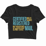 TV Series Seinfeld NEWMAN MAIL BETRAYAL EPISODE Custom Printed Graphic Design Crop Top T-Shirt for Women - Aaramkhor