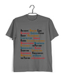 TV Series Seinfeld A-Z OF SEINFELD Custom Printed Graphic Design T-Shirt for Women - Aaramkhor