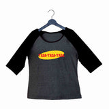 TV Series Seinfeld YADA YADA YADA Custom Printed Graphic Design Raglan T-Shirt for Women - Aaramkhor