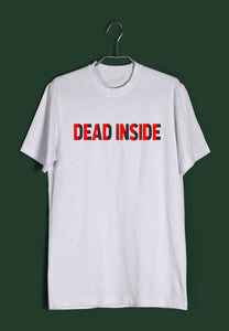 Funny Swag Dead Inside Custom Printed Graphic Design T-Shirt for Men - Aaramkhor