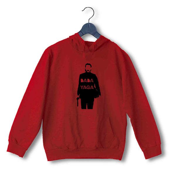 Red John Wick Movies Hollywood JOHN WICK BABA YAGA UNISEX HOODIE Sweatshirts