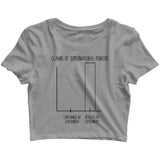 Nerd SCIENCE PREVAILS Custom Printed Graphic Design Crop Top T-Shirt for Women - Aaramkhor