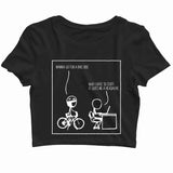 Coding Nerd Engineering 3D GIVES ME HEADACHE Custom Printed Graphic Design Crop Top T-Shirt for Women - Aaramkhor