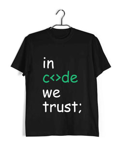 Coding Nerd Engineering IN CODE WE TRUST Custom Printed Graphic Design T-Shirt for Women - Aaramkhor