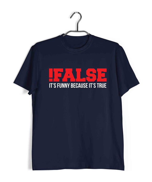 Coding Nerd Engineering FALSE TRUE FUNNY Custom Printed Graphic Design T-Shirt for Men - Aaramkhor