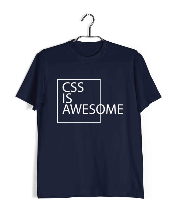 Coding Nerd Engineering CSS IS AWESOME Custom Printed Graphic Design T-Shirt for Men - Aaramkhor