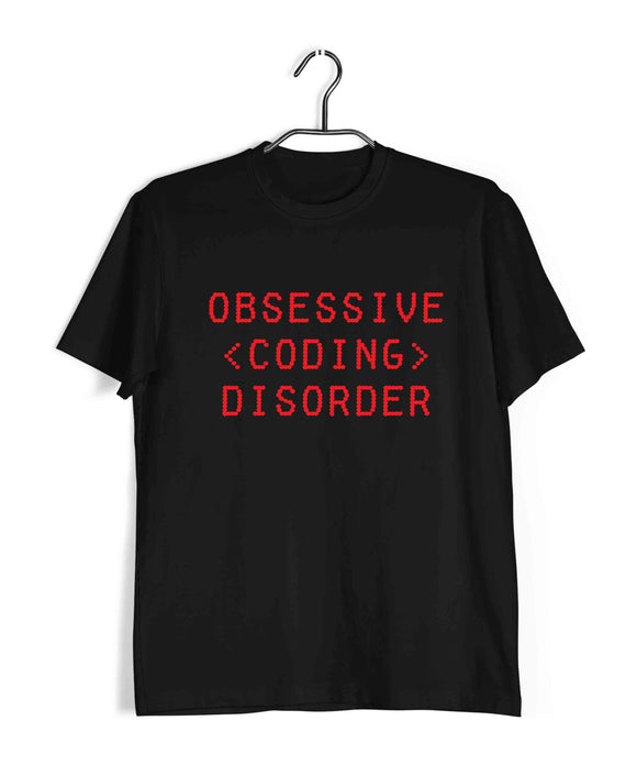 Coding Nerd Engineering OBSESSIVE CODING DISORDER Custom Printed Graphic Design T-Shirt for Men - Aaramkhor