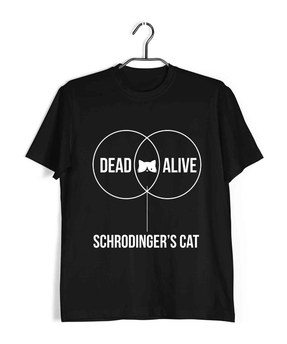 Coding Nerd Engineering SCHRODINGERS CAT VENN DIAGRAM Custom Printed Graphic Design T-Shirt for Men - Aaramkhor
