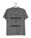 Coding Nerd Engineering SCHRODINGERS CAT VENN DIAGRAM Custom Printed Graphic Design T-Shirt for Women - Aaramkhor