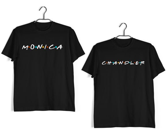 Matching Anniversary Gifts Relationships Matching Couples MONICA CHANDLER T-Shirts for Boyfriend Girlfriend Fiance Husband Wife Mother Father Family - Aaramkhor