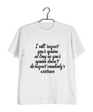 Feminista Feminism IT'S ABOUT DIGNITY Custom Printed Graphic Design T-Shirt for Women - Aaramkhor