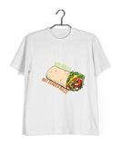 Feminista Wordplay Feminism VEG ROLLS NOT GENDER ROLES Custom Printed Graphic Design T-Shirt for Women - Aaramkhor