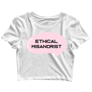 Feminista Feminism Ethical Misandrist Custom Printed Graphic Design Crop Top T-Shirt for Women - Aaramkhor