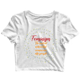 Feminista Feminism The Finer Definition Custom Printed Graphic Design Crop Top T-Shirt for Women - Aaramkhor