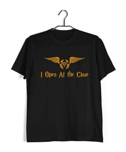 Books Harry Potter I Open At the Close Custom Printed Graphic Design T-Shirt for Women - Aaramkhor