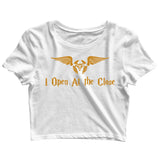 Books Harry Potter I Open At the Close Custom Printed Graphic Design Crop Top T-Shirt for Women - Aaramkhor
