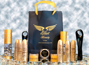 Eliot Beauty- A Set of Lipsticks, Masks, Lip Liners, Eyeliner, Gold Serum & Tattoo Cream (13 Pieces)