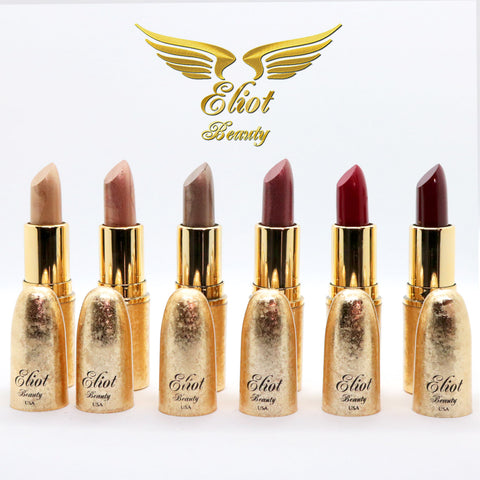 Luxury Long Lasting Lipsticks - A Set of All 6 Beautiful Colors - Eliot Beauty