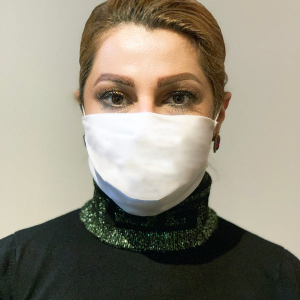 Mask - Reusable Rectangular Face Mask - White- Free USA Shipping