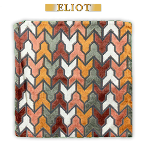 Rocket- Beautiful Pillow Cover- Designers Pattern- Color: Sunset