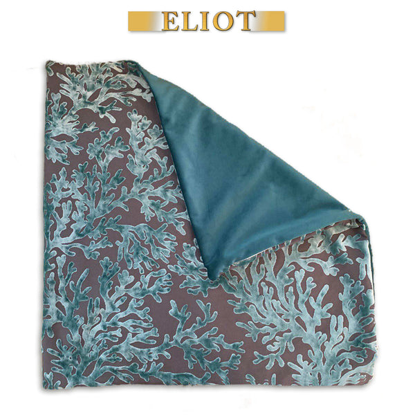 Scuba - Beautiful Pillow Cover- Burnout Velvet- Color: Laguna