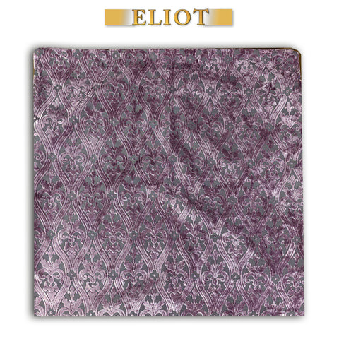 Bellagio- Chic Pillow Cover- Imperial Pattern- Double Sided- Color: Plum