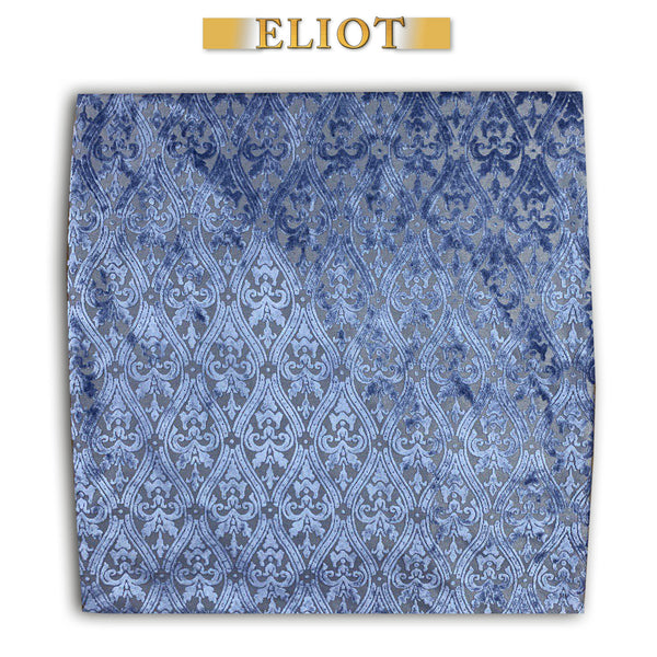 Bellagio- Chic Pillow Cover- Imperial Pattern- Color: Blue