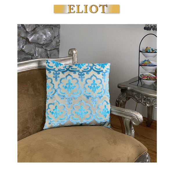 Temple - Beautiful Pillow Cover- Eastern Pattern- Color: Peacock