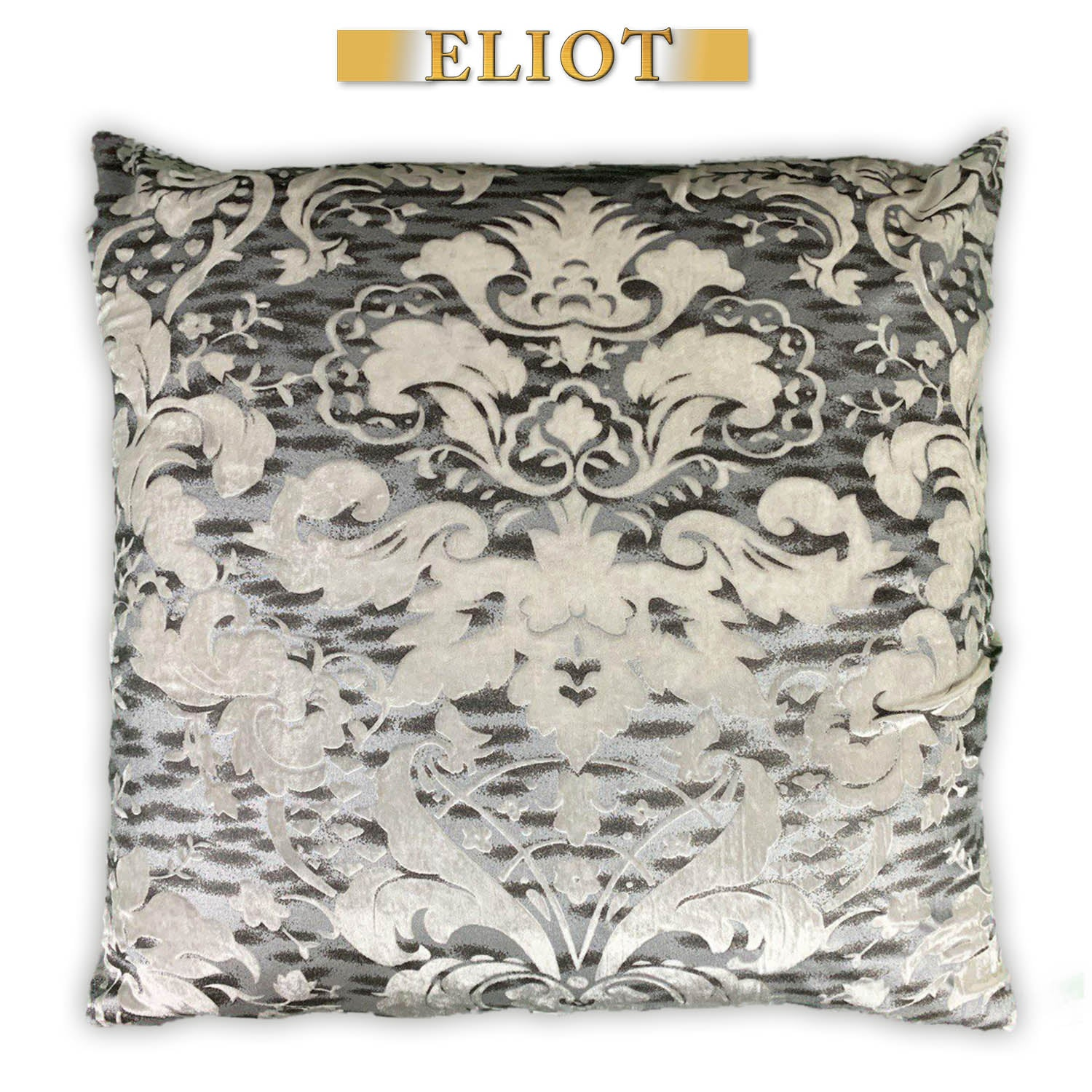 Nottingham- Pillow Cover- Sheen Imperial Pattern - Color: White