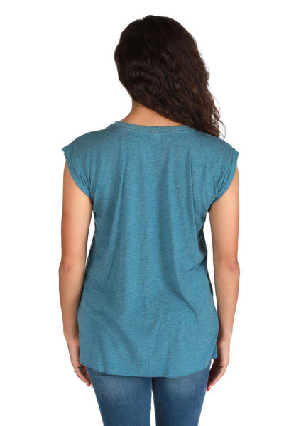 Sophia - Women's Muscle Tee With Rolled Cuff