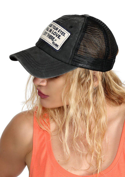 Elizabeth - Men & Women's Sport Hat - Color: Charcoal