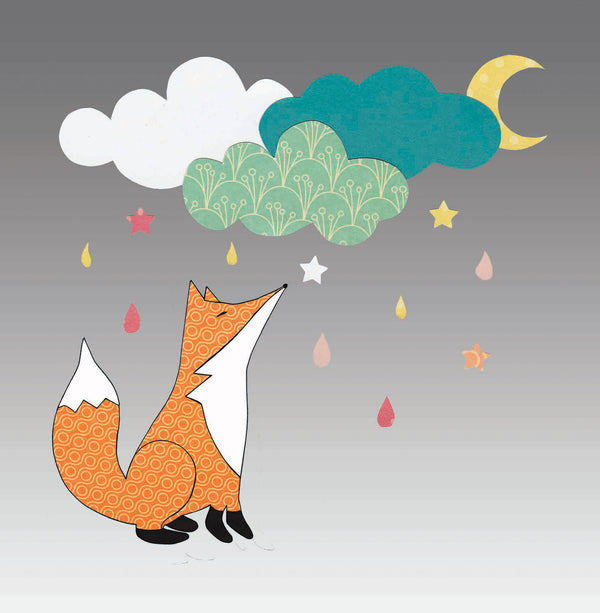 Mr Fox and the Stars Greetings Card